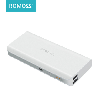 10000 mAh Romoss Solo 5 Solar Power Bank Dual Output External Battery Packs Compact Slim Thin Portable Charger For Phone Tablet