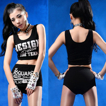 Punk Women Casual Sheerleading Uniforms Sexy Costumes Crop Top Print Suit 2 Piece Suits Shorts Sets 2016 Hot High Quality