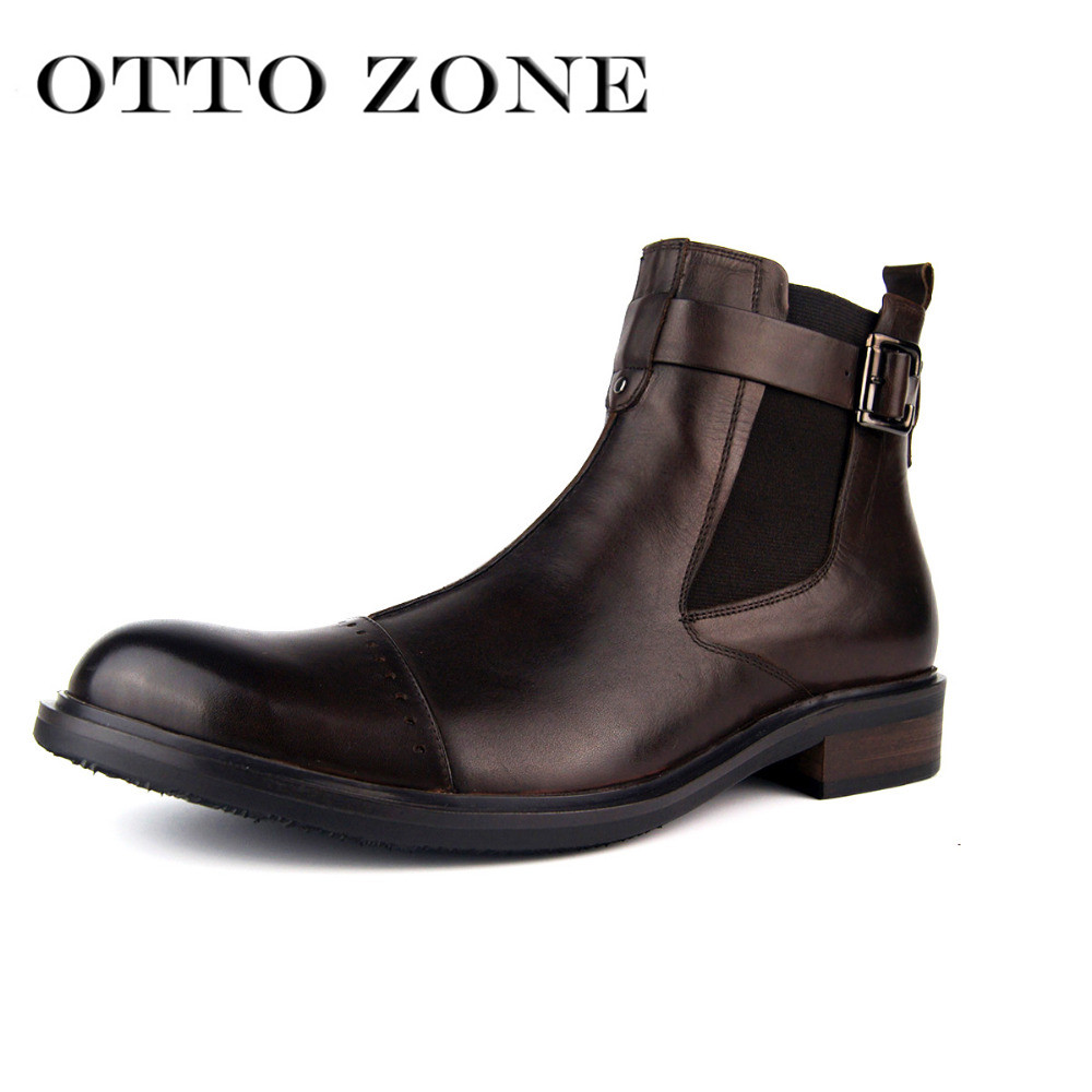 Otto Zone Designer Men Winter Boots Military Autumn Boot Genuine Leather Boots Ankle Shoes Chelsea Boots Designer Leather Shoes Chelsea Boots