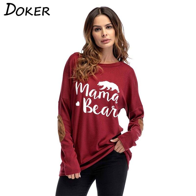 Oberteile Und T-shirts 2019 Frühjahr Neue Langarm Mode T-shirt Frauen Lustige Brief Druck Casual T-shirt Damen Oansatz Tops Lose T-shirt Plus Größe Online Shop T-shirts