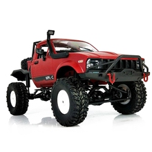 лучшая цена WPL C14 1:16 Scale 2.4G 2CH 4WD Mini Off-road RC Semi-truck RTR Kids Climb Truck