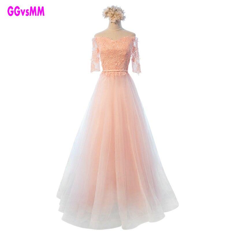 Baru Arrival Mutiara Merah Muda Sifon Panjang Prom Gaun Vestido De Festa  Longo Renda TERBAIK Lantai Panjang Murah Malam Gaun Pesta elegan 0944ac4009