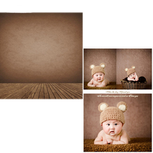 DAWNKNOW Vinyl Backdrops For Photo Studio Brown Wall New Fabric Flannel Photography Background Wood Floor For Children 6740