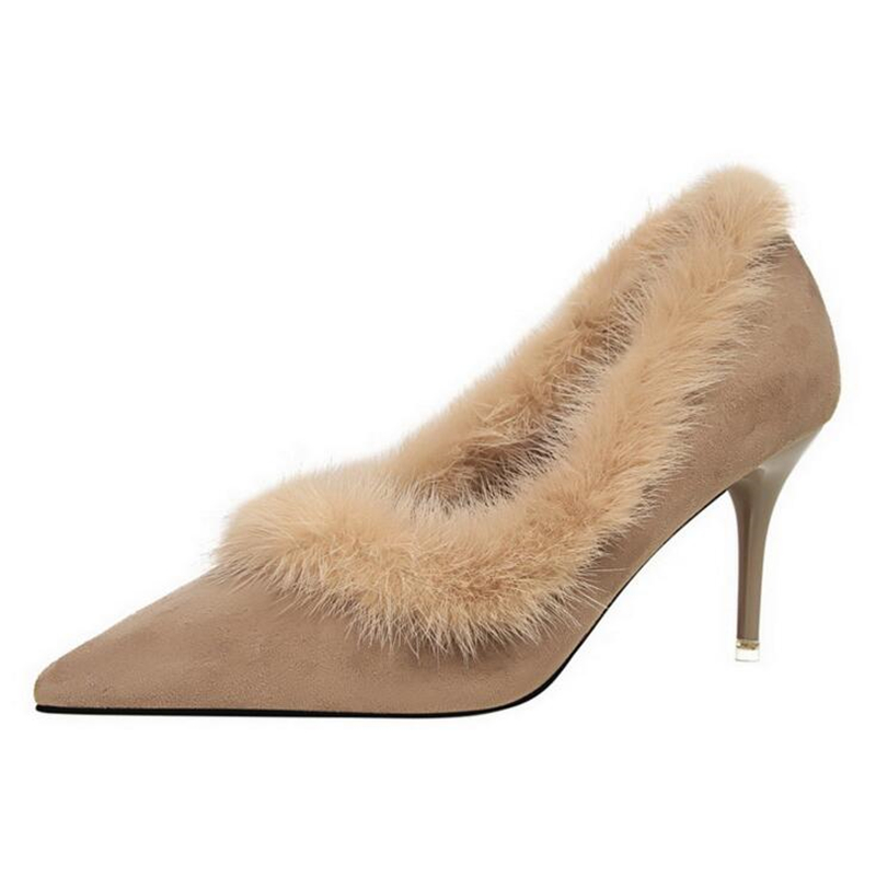 Nude Suede Heels Promotion-Shop for Promotional Nude Suede Heels ...