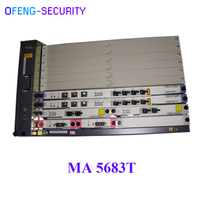 MINI Huawei MA5683T 10G OLT with service board GPFD C+ Fttb/Fttc/Ftth GPON EPON OLT (Chassis + 2xSCUN + 2xPRTE + 2x GICF )