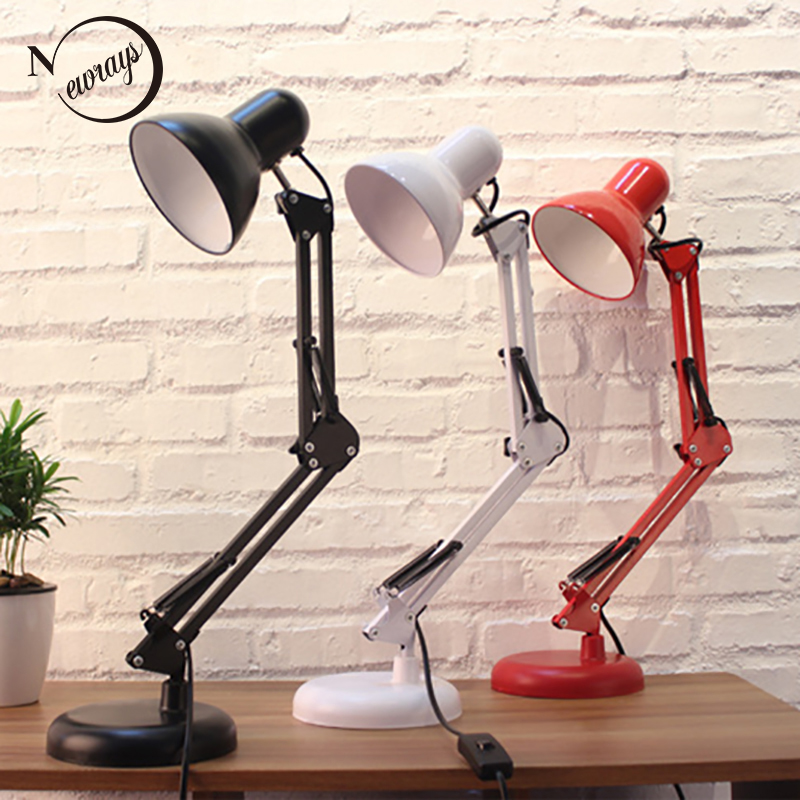 Long Swing Arm adjustable classic desk Lamps E27 LED with switch Table Lamp for Office Reading night Light bedside home 67050 hanging on the support arm swing arm control arms factory swing