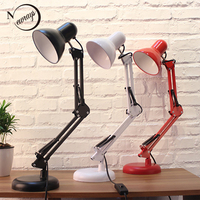 Long Swing Arm Adjustable Classic Desk Lamps E27 LED With Switch Table Lamp For Office Reading