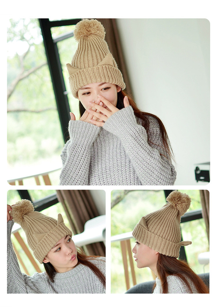 4264520b776 Cute Unicorn cat ear pattern caps good quality easy to wash hat beanies  unisex knitted cap for girls boys hats warm winter hat-in Skullies   Beanies  from ...