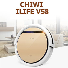 Chuwi Ilife V5S Robotic Vacuum Cleaner for Home Cordless Robot Dust Cleaner 0.3L Water Tank Capacity 2 in 1 Wet Dry Vacuum 2016