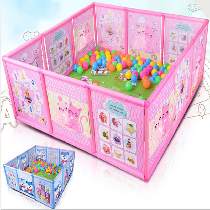 Baby Dry Ball Pool Playpen for Children Kids Plastic Game Fence Large Space Safety Guardrail for