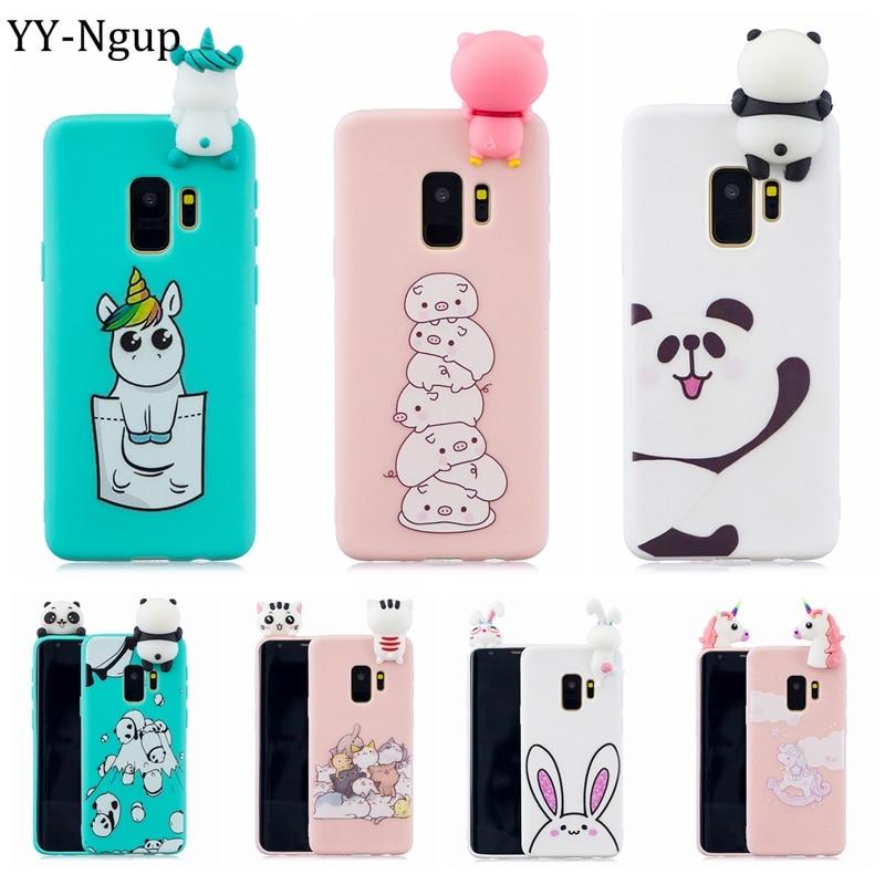S9 Case for Samsung Galaxy S9 Plus Case Cover 3D Cartoon Panda Unicorn Silicone Phone Case on for Coque Samsung S9 Plus S9+ Etui