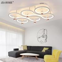 New Design Acrylic Modern Led Ceiling Lights For Living Study Room Bedroom Lampe Plafond Home Decoration