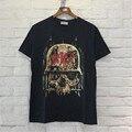 Mens camiseta De Rock Heavy Metal Gola Redonda Camiseta de Algodão Metallica camisa Especial Crânio Impresso T-shirt Preta Fresca de Verão Camisetas XL