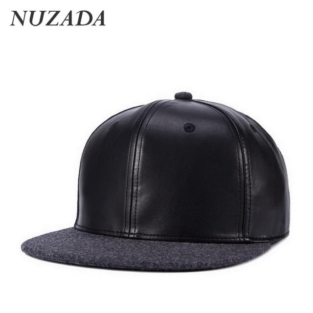 Brands NUZADA Men Women Baseball Caps Autumn Winter Styles Hip Hop Hats Sports Snapback High Quality PU Leather Cap Bone jt-132