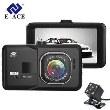 """E-ACE Car DVR 3"""" Full HD 1080P Dual Camera Lens 170D Angle Video Recorder Camcorder Dash Cam Registrator Night Version DashCam"""
