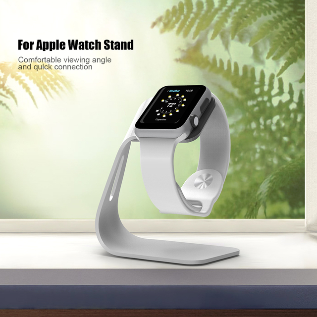 FLOVEME Metal Aluminum Charger Stand Holder for Apple Watch Bracket Charging Cradle Stand for Apple i Watch Charger Dock Station 6