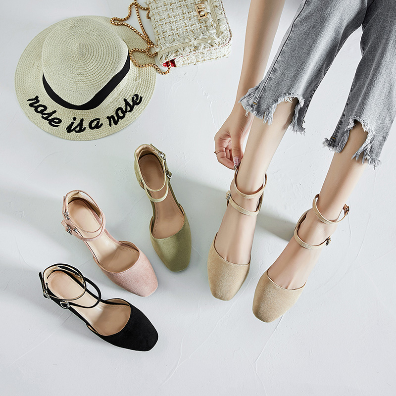 women ankle strap closed toe sandals ladies plus size summer shoes sandle womens high heels sandalias mujer woman sandal 34-43 ...