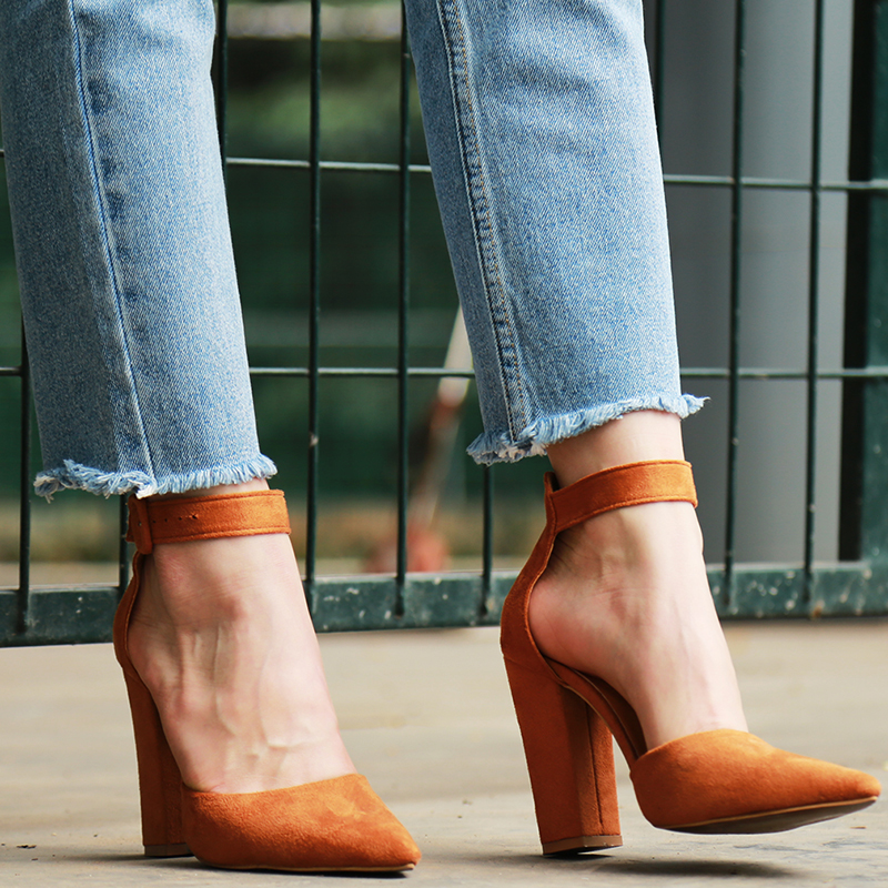 2018 Sexy Classic High Heels Women's Sandals Summer Shoes Ladies Strappy Pumps Platform Heels Woman Ankle Strap Shoes 33