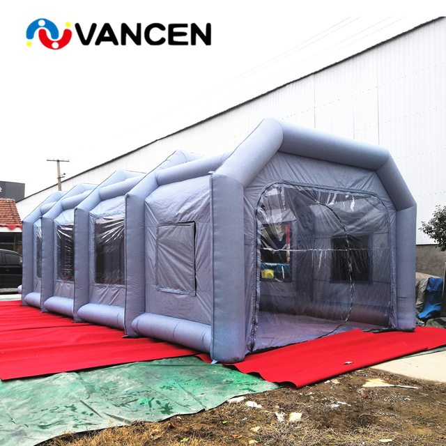 Factory direct sale 8*4*3m inflatable car tent outdoor spray paint tent for car wash inflatable paint booth for sale