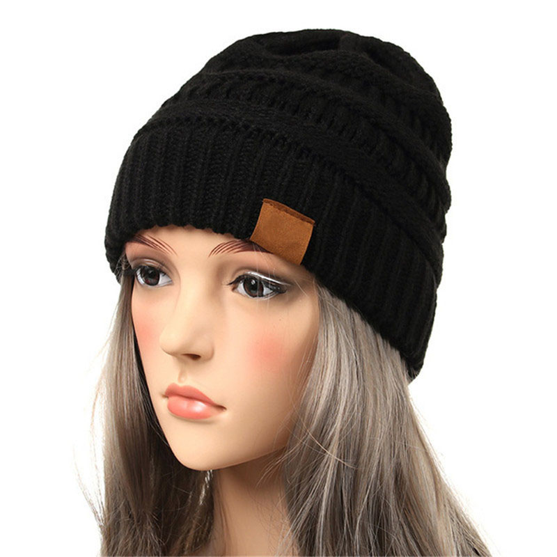 4d72e322 Woman Winter Hat Beanie CC labeling Faux Fur Pom Pom Ball Knitted ...