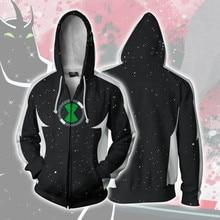 3d Print  Ben 10 Movie Sweatshirts Hoodie Cosplay Costume Jackets Men Top Coat Zipper Casual Hoded