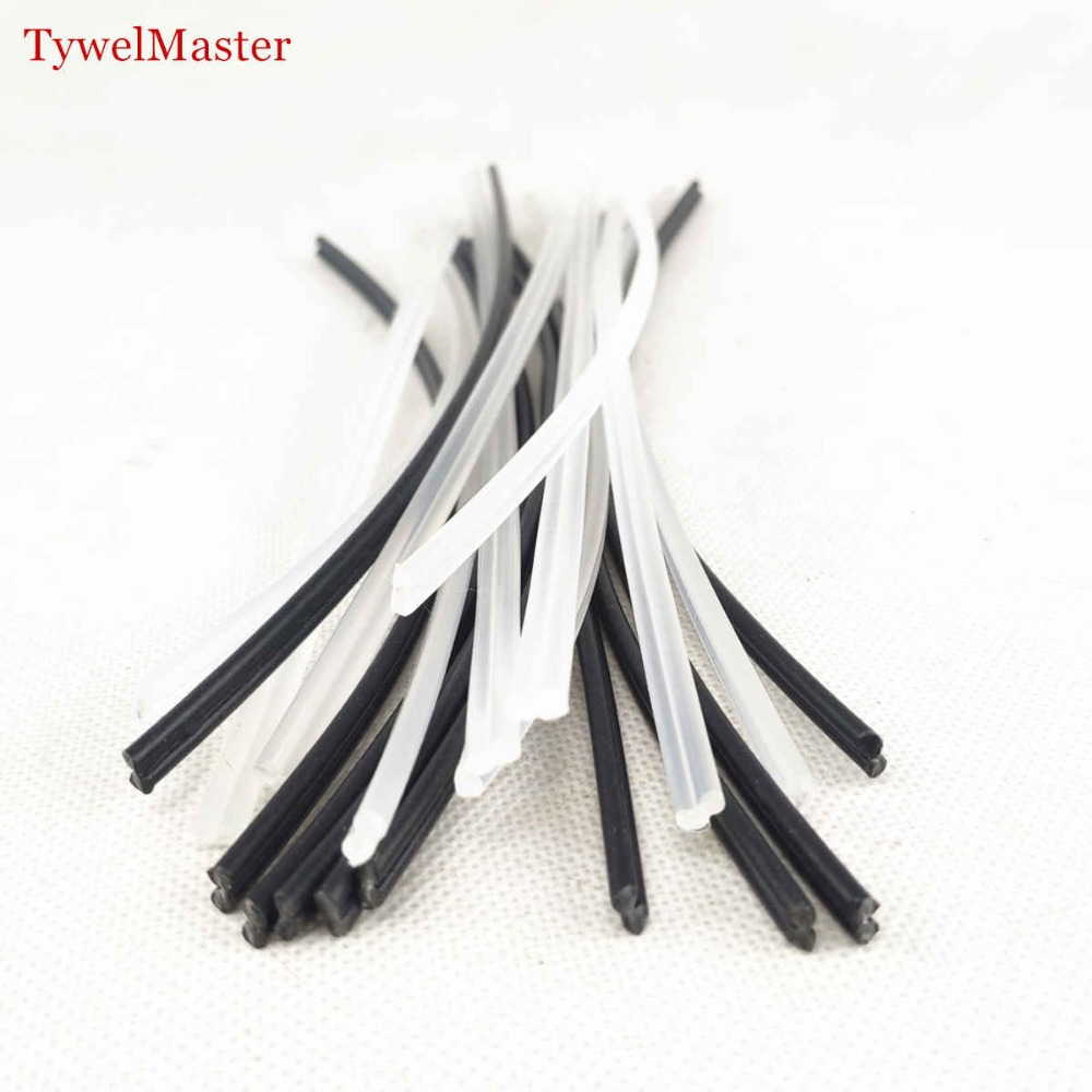 50pcs Plastic Welding Rod PP 2.7x5.5x200mm Hot Stapler Car Bumper Repair Filling Plastic Rod