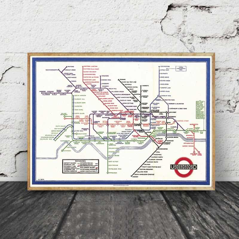 Subway Map Wall Art Wall Art Stickers Wall Decal Huge Underground Tube Map.Detail Feedback Questions About London Underground Vintage Looking
