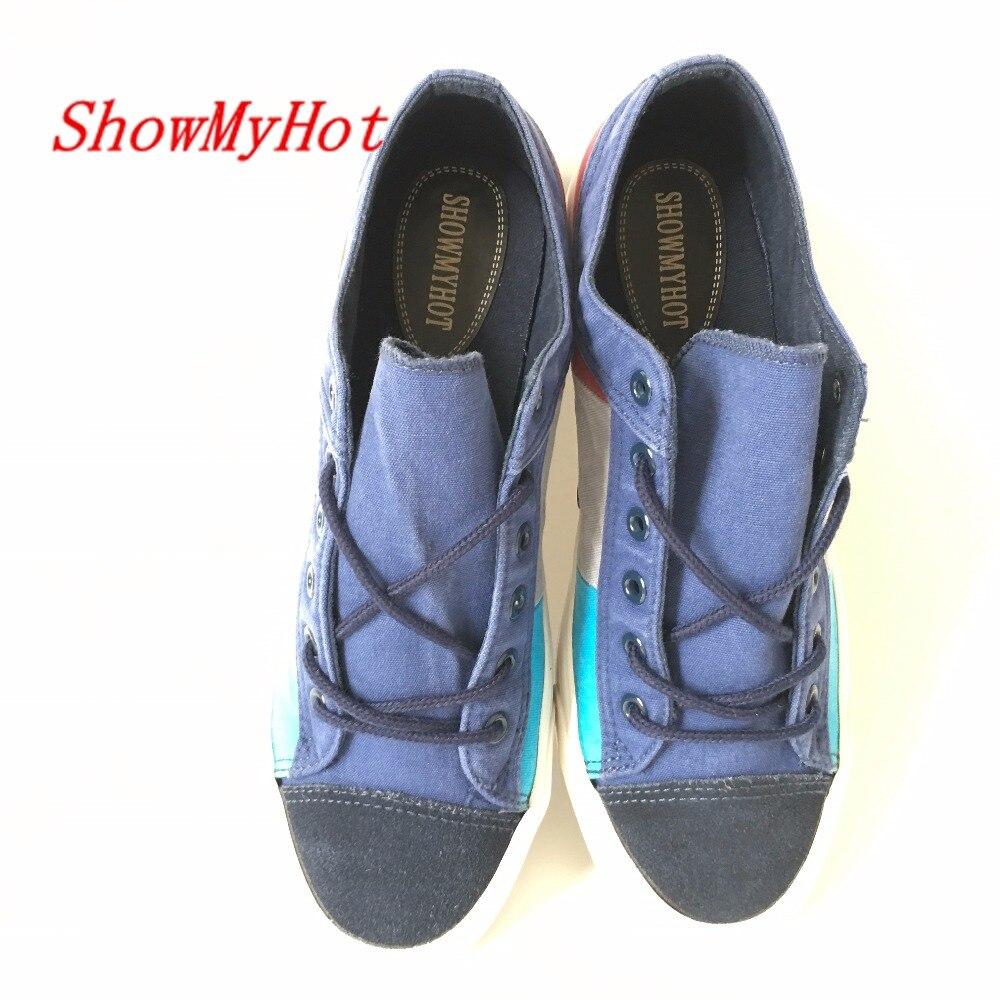 Respirável Moda Transparente Shoes Da Sapatos 38 Tenis Dos claro Showmyhot 44 Lona Azul Sapatas Chegada De Tamanho Ocasionais Verão ouro Nova Dourado Zapatos Hombre Homens Do PgPzq