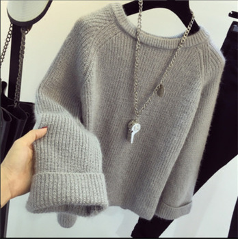 Iceinside Winter Women Candy Color Sweater Female Knitted Sweaters And Pullovers Femme Tricot Pull Bottom Sweater Tops Jumper 1