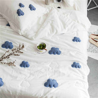 Designer new summer quilt Air condition comforter pillowcase blanket bed cover quilting 3D three dimensional patch embroidery#sw