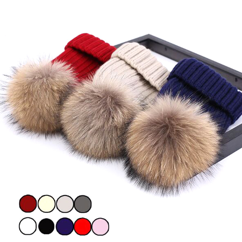 2017 Mink Fur Ball Cap Pom poms Winter Hat For Women Girl 's Hat Knitted Beanies Cap Brand New Thick Female Cap 2017 new fur ball cap pom poms keep warm winter hat for women girl s hat knitted beanies letter brand new thick female capm 003