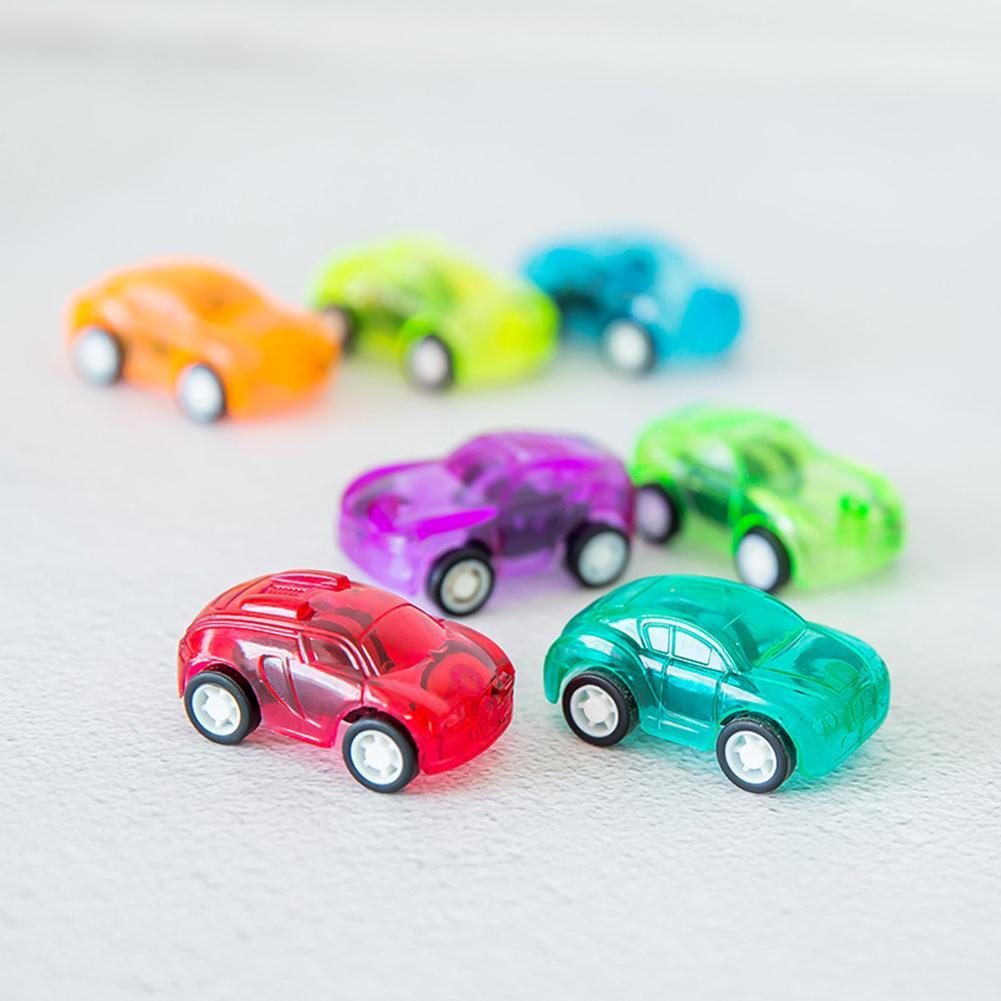 4Pcs Mini Pull Back Transparent Car Vehicle Model Preschool Learning Kids Toy
