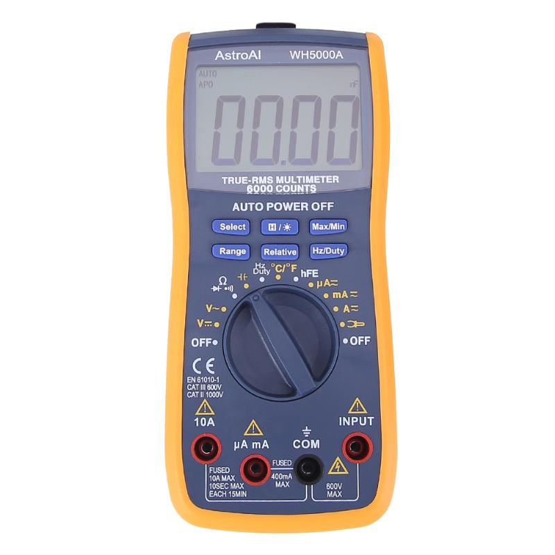 VKTECH Digital Multimeter 5999 Counts with USB Interface Auto Range with Backlight Magnet hang AC DC Ammeter Voltmeter Ohm цена