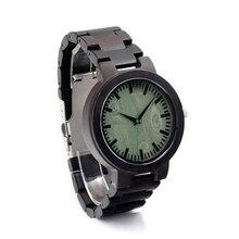 BOBO PÁJARO Relojes Hombres Marca de Lujo relogio masculino Reloj de Pulsera con Correa de Reloj de Pulsera De Madera De Madera Top Brand C-C29