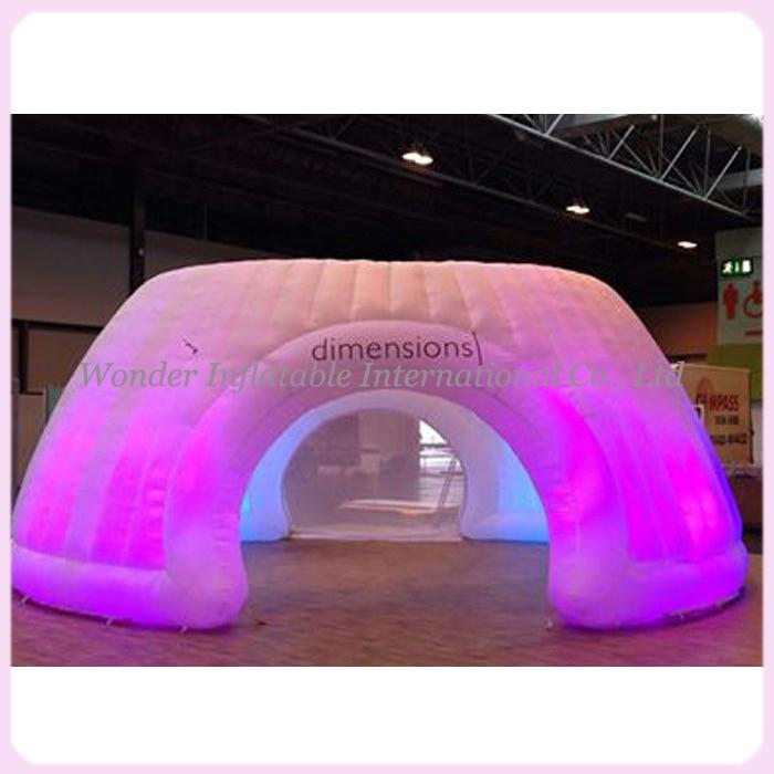 Велики шатор на надувавање са циркусом ЛЕД осветљен са штампањем логотипа за венчање / забаву / догађај