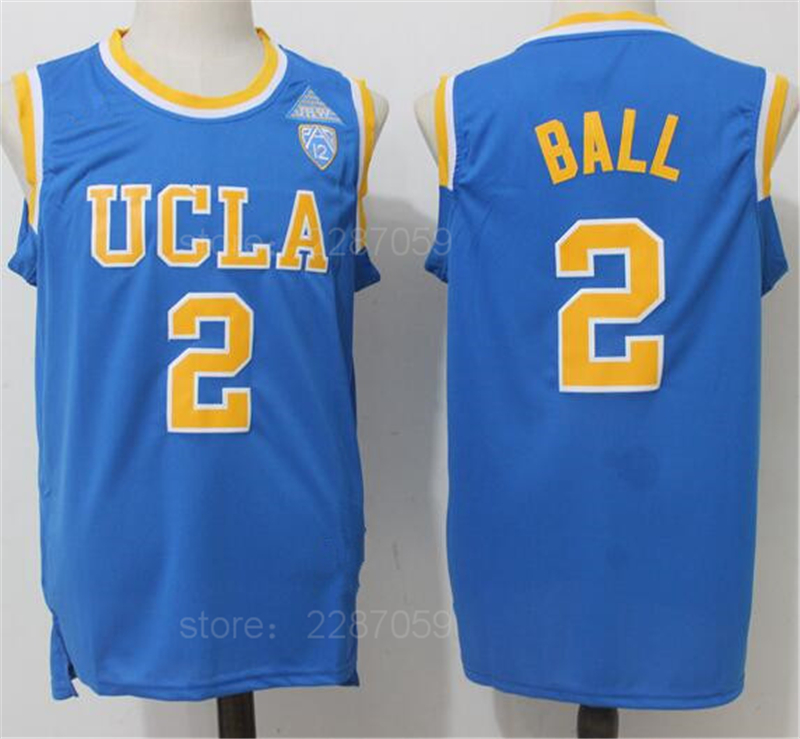 69eedd2d5a5 Ediwallen College 2 Lonzo Ball Jersey Men UCLA Bruins Basketball Jerseys  Cheap For Sport Fans All Stitching Blue White Yellow