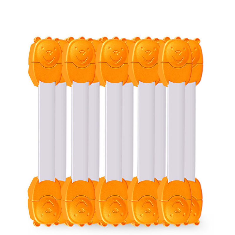10pcs Children Safety Locks Double Button Protection For Drawer Cabinet Refrigerator Hot Sale