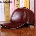 Дизайн моды Кожа Шляпа Человек Бейсболка Женщины Шляпы Согреться Открытый Повседневная Зимние Шапки 3 Цвета