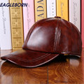 Fashion Design Leather Hat Man Baseball Cap Women Hats Keep Warm Outdoor Casual Winter Caps 3 Colours
