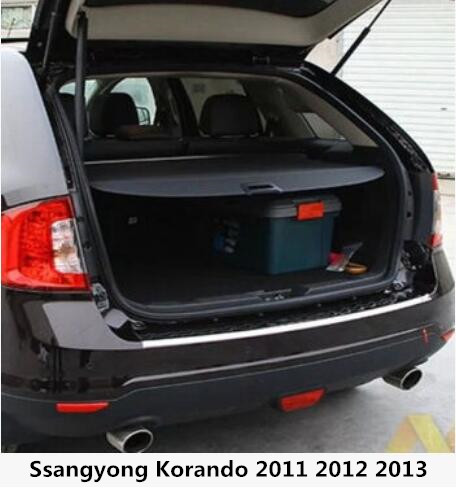Car Rear Trunk Security Shield Cargo Screen Shield shade Cover Fits For Ssangyong Korando 2011 2012 2013 image