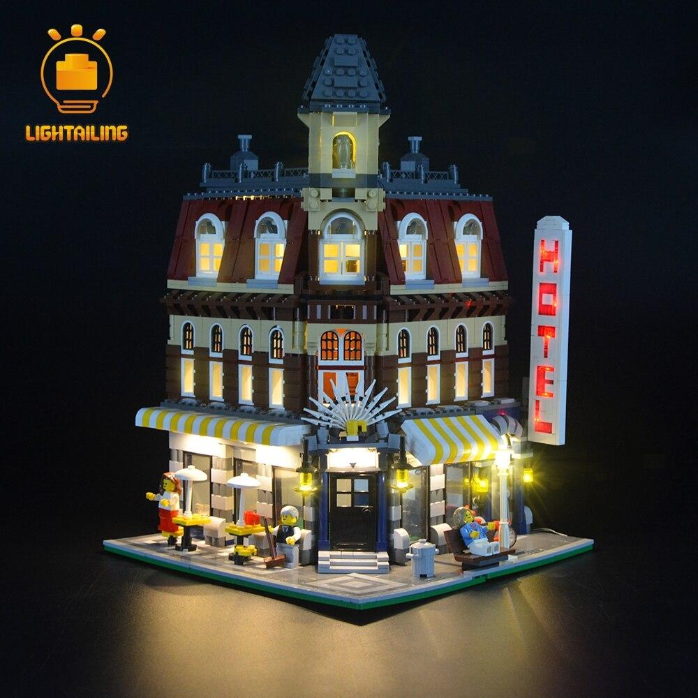 Zestaw oświetlenia Led Light zestaw do stwórcy stworzyć Cafe Corner Building Block zestaw światła kompatybilny z 10182 w Klocki od Zabawki i hobby na  Grupa 2