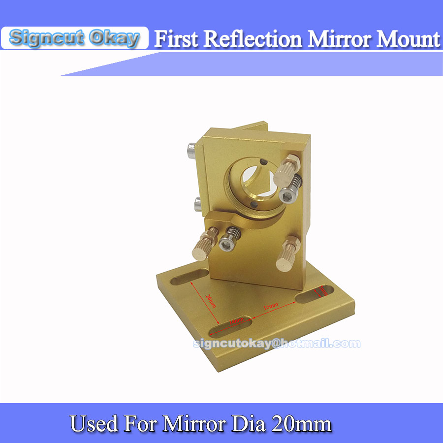 Co2 Laser First Reflection Mirror Dia 20mm Mount Support Integrative Holder For Stamp Laser Engraving Cutting Machine