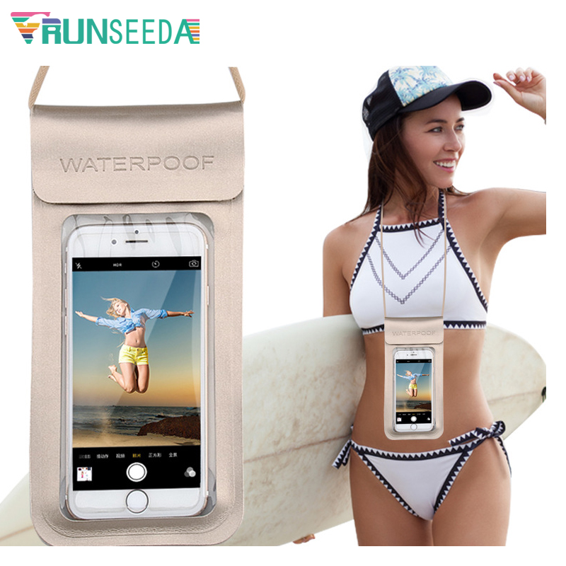 6.5Inch High Quality Swimming Bag Durable TPU Universal Waterproof Mobile Phone Cover Case Strong Seal Cellphones Neck Pouch 32 3