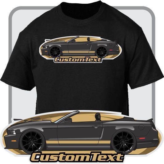 2018 Fashion Custom Art T-Shirt 2010-2014 Mustang 5.0 GT Convertible Not Affiliated with American Classic Car Fans Base Shirt