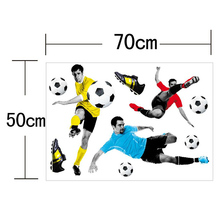 3D Football and Car Wall Stickers