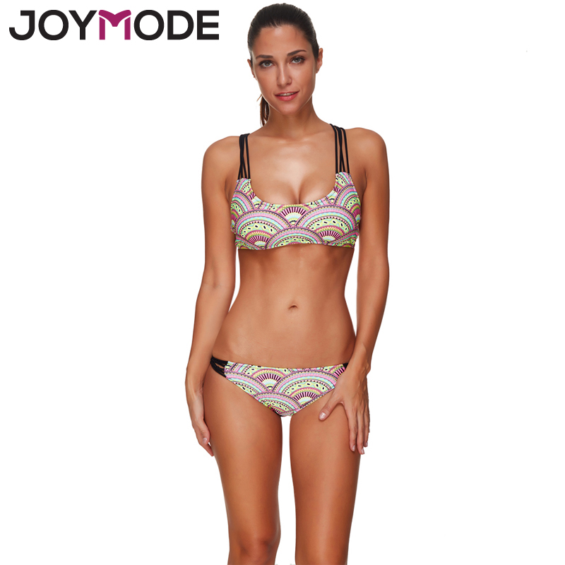 Joymode African Print Swimsuit For Women 2017 Hollow Out