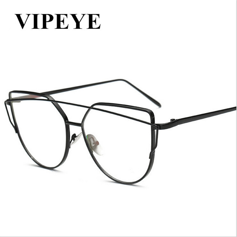 Hot Selling Ladies PC Frames Oval Steel Wire Legs Frame Clear Lens Glasses For Men And W ...
