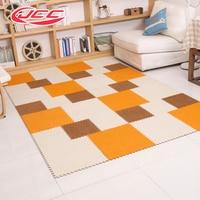 6pcs Bag JCC Short Velvet EVA Foam Puzzle Floor Play Mat Baby Interlocking Carpet And
