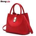 Женщины сумка женщины кожаные сумки сумка стиль простой ведра