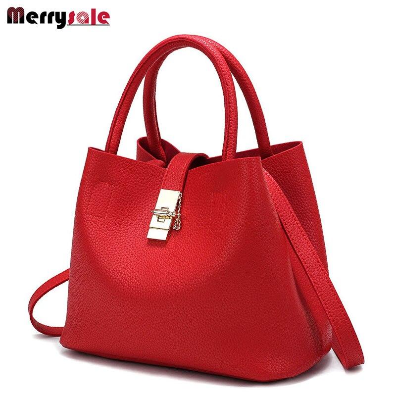 Bolso de las mujeres de las mujeres bolsos de cuero Messenger bag estilo simple